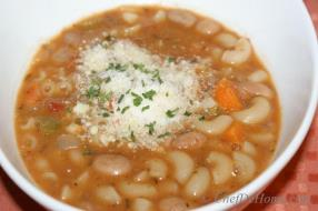Italian Style pasta and beans soup