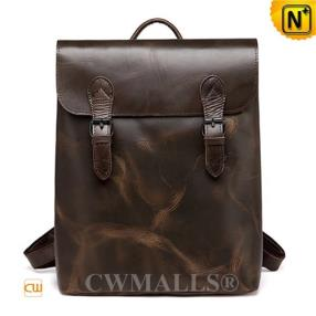 CWMALLS Retro Flap Leather Backpack CW907015