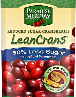 These sweet little dried cranberries have fifty percent less sugar compared to other brands