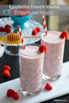Raspberry French Vanilla Carnation Breakfast Shake Recipe - ChefDeHome.com