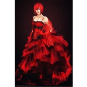 Kuroshitsuji Madam Red Red Dress Cosplay Costume
