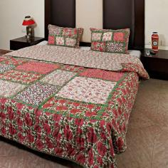 traditional quilt design from india