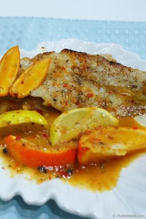 Pan-Seared Cod Fillets with Citrus Sauce Recipe - ChefDeHome.com