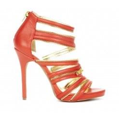 Pretty Makeena Tangerine Sandals