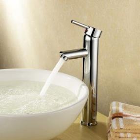 Bathroom Sink Faucet Diamond Shape Chrome Finished Solid Brass Faucet--Faucetsdeal.com