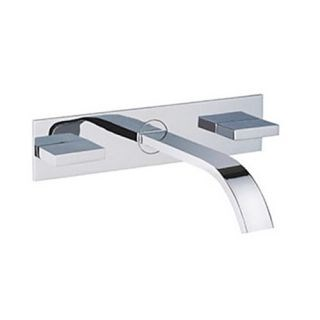 Bathroom Sink Faucets Contemporary Waterfall Brass Chrome with Two Handles--Faucetsdeal.com