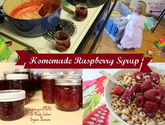 homemade raspberry syrup..homerun