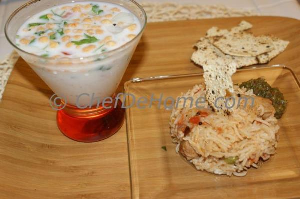 Savory Lassi and Soy Nugget Rice Pilaf