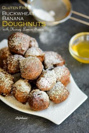 Gluten Free Buckwheat Banana Doughnuts Recipe - ChefDeHome.com