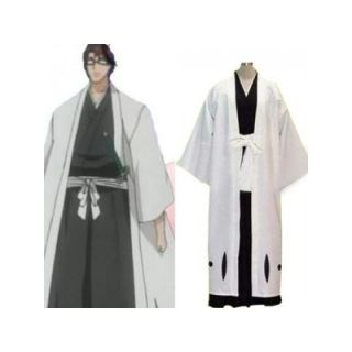 Bleach Captain Aizen Sousuke 5th Division Cosplay Costume