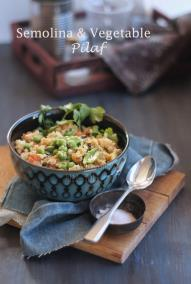Semolina and Vegetables pilaf from ecurry