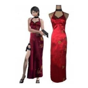 Resident Evil 4 Ada Wong Red Cosplay Costume--CosplayDeal.com