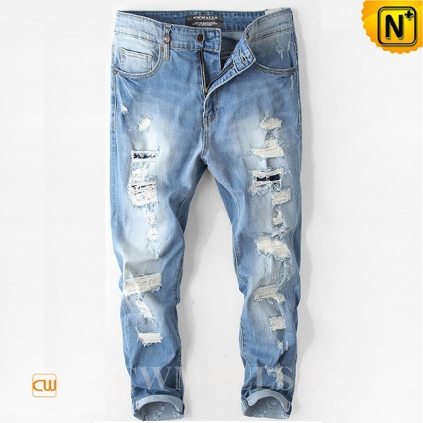 CWMALLS Mens Destroyed Denim Jeans CW107001