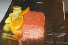 Grilled Salmon is famous for a reason - its celebration of health and taste at the same time. In my opinion, omega-3s rich seafood should be cooked with less oil and lots of citrus ...