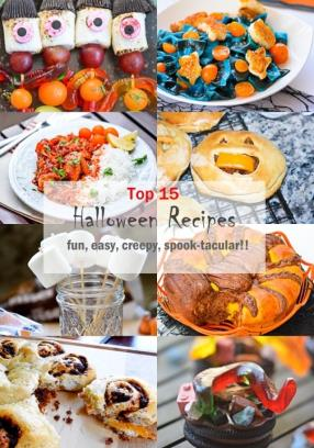 Top 15 Halloween Party Recipes - Fun Creepy Easy Entertaining Meals -ChefDeHome.com