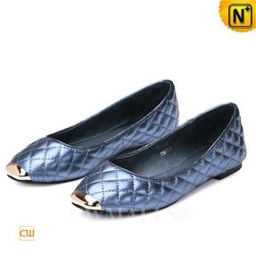 CWMALLS Designer Leather Quilted Flats CW307007