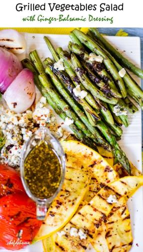 Grilled Vegetables Salad with Balsamic Dressing Recipe - ChefDeHome.com