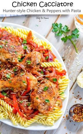 Easy Chicken Cacciatore -ChefDeHome.com