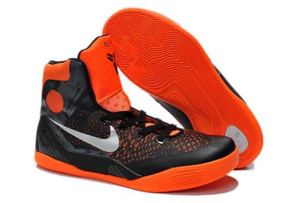 Womens Nike Kobe 9 Elite Shoes in Black Orange Colorway Cheap Sa
