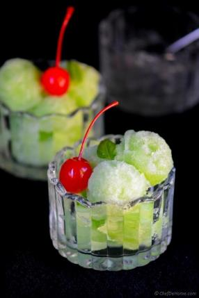Cucumber, Lime and Basil Sorbet Recipe - ChefDeHome.com