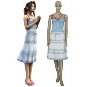 Final Fantasy VII Aerith Gainsborough Cosplay Costume