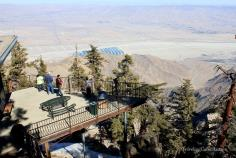 Palm Spring Mountain station lookout point - notice the snow under the platform