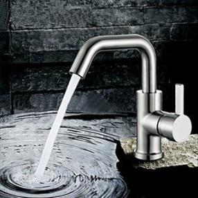 Contemporary Rotatable Stainless Steel Stainless Steel Bathroom Sink Faucet--Faucetsdeal.com