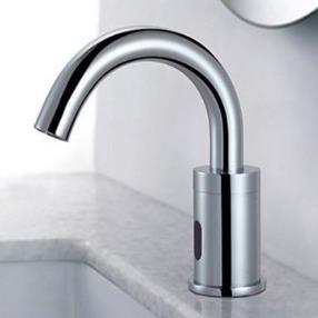 Chrome Finish Sensor Brass Contemporary Bathroom Sink Faucet--Faucetsmall.com