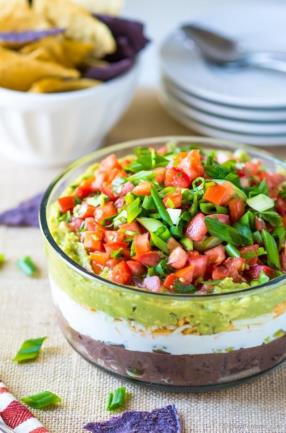 7 Layer Mexican Dip Recipe -ChefDeHome.com