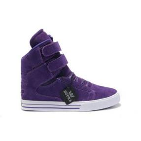 Justin Bieber Purple Supras High Tops - Supra Tk Society Womens