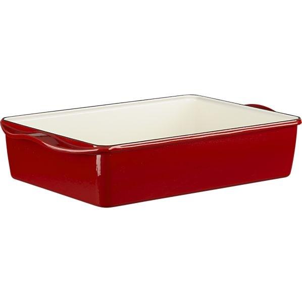 Mario Batali Red Lasagna Roaster
