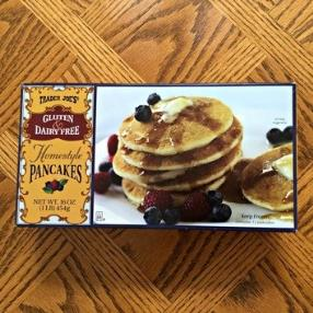 This morning I ate these wonderful Trader Joe's Gluten and Dairy Free Homestyle Pancakes They were so delicious healthy and filling