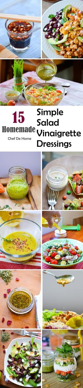 15 Homemade Simple Salad Vinaigrette Dressings Meals - ChefDeHome.com