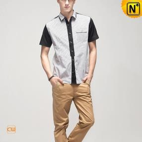 Designer Mens Short Sleeve Shirts CW100319 from www.cwmalls.com