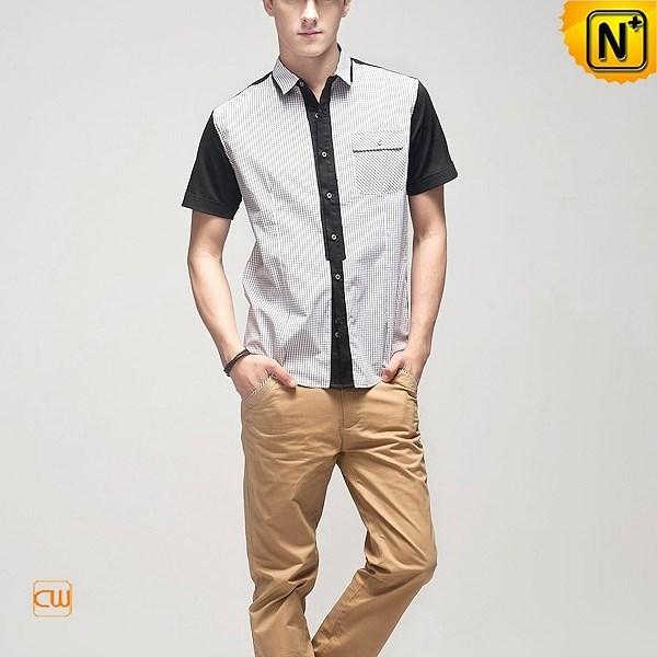 Designer Mens Short Sleeve Shirts CW100319