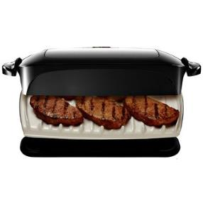 We use the George Forman grill to cook vegetables, fish and chicken The food is cooked very quickly with nice grill marks and a tasty flavor