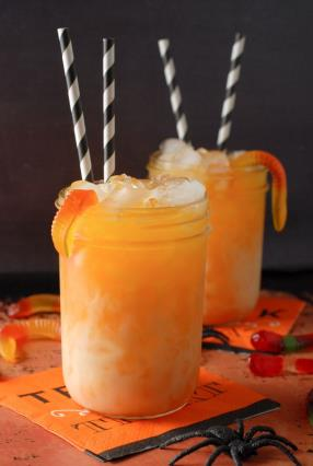 Candy Corn Layered Halloween Sipper