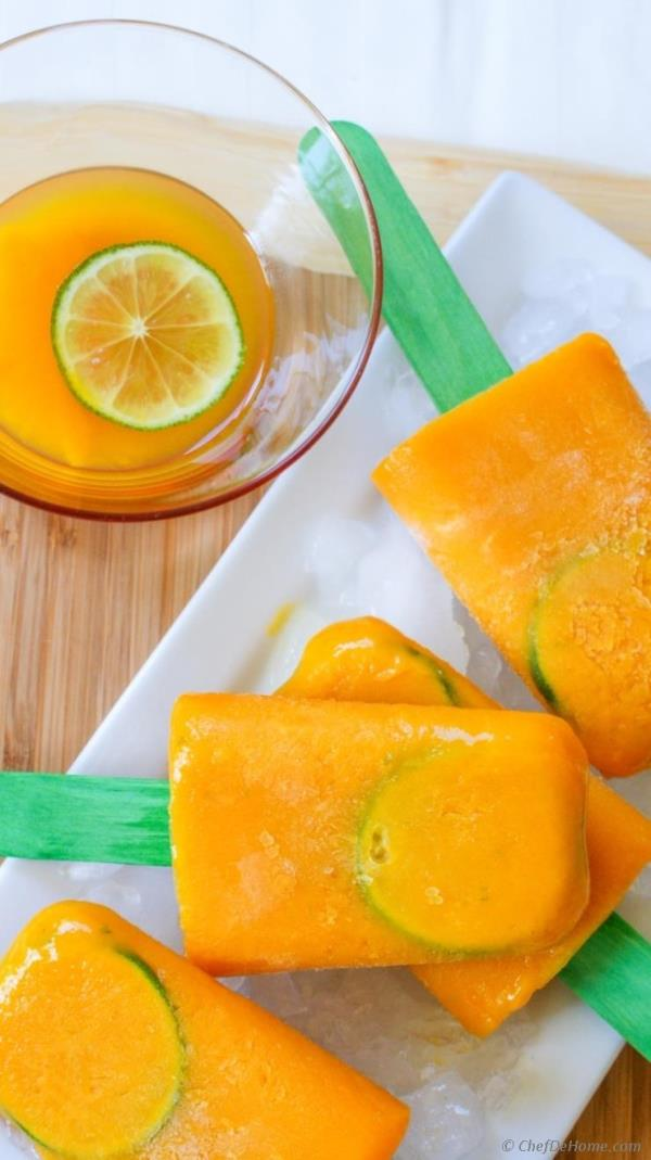Mango On The Rocks Cocktail Ice Pops Recipe - ChefDeHome.com