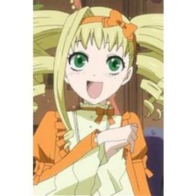 Kuroshitsuji Elizabeth Middleford Orange Dress Cosplay Costume