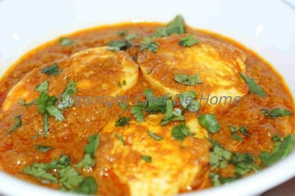 Delicious mouth watering egg curry