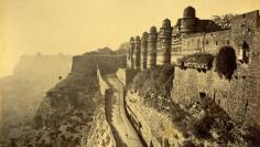 The entrance to a famous fort in the northern Indian city of Gwalior in Madhya Pradesh state, taken in 1878.