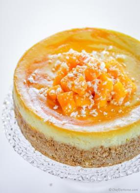 Mango Cheesecake Recipe -ChefDeHome.com