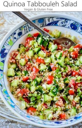 Quinoa Tabbouleh Salad Recipe -ChefDeHome.com