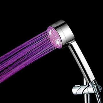Contemporary LED A Grade ABS Chrome Hand Shower--Faucetsmall.com