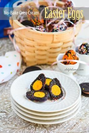 Yellow Yolk Oreo Cream Cheese Easter Eggs Recipe - ChefDeHome.com
