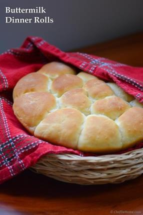 Fluffy Pull-Apart Buttermilk Dinner Rolls Recipe - ChefDeHome.com