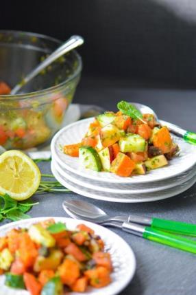 Indian Mint and Sweet Potato Salad - Vrat Ki Chatpati Pudina Shakarkandi Chaat Recipe -ChefDeHome.com