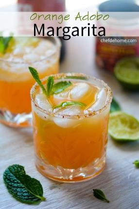 Orange Adobo (Chipotle) Margarita Recipe -ChefDeHome.com