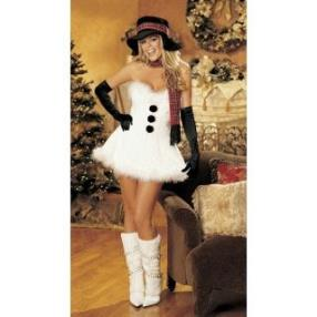 Lovely White Dress Adult Women Christmas Costume