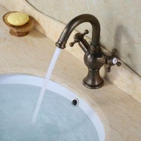 Bathroom Sink Faucet with Antique Brass finish--Faucetsdeal.com
